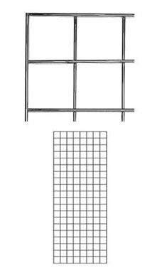 2 x 5 foot Chrome Wire Grid Panel