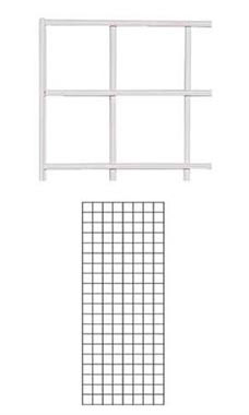 2 x 5 foot White Wire Grid Panel
