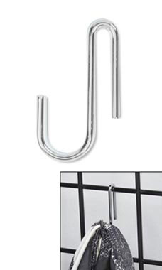 Chrome Display Hook for Wire Grid