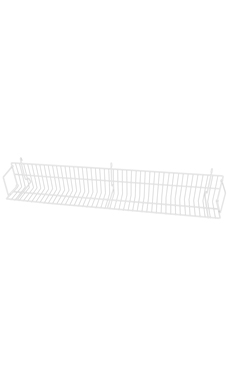 24 x 6 x 6 ½ inch White CD/DVD/Cassette Shelf for Wire Grid