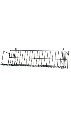 24 x 6 x 6 ½ inch Black CD/DVD/Cassette Shelf for Wire Grid