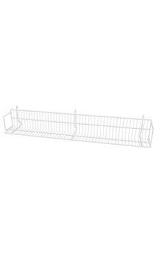 48 x 6 x 6 ½ inch White CD/DVD/Cassette Shelf for Wire Grid