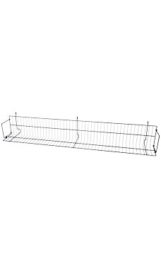 48 x 6 x 6 ½ inch Black CD/DVD/Cassette Shelf for Wire Grid