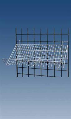 White Downslope Grid Shelf - 24""