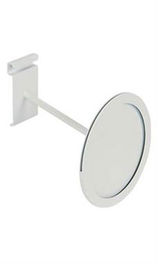 Circular White Faceout Sign Holder for Wire Grid