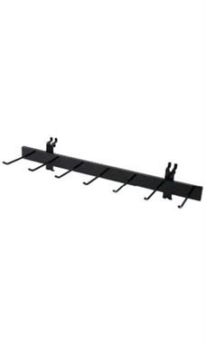 Multi-Hook Black Belt & Tie Rack