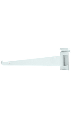 12 inch White Metal Shelf Bracket for Wire Grid