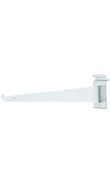 14 inch White Metal Shelf Bracket for Wire Grid