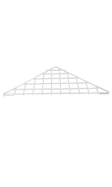 Triangle White Wire Grid Shelf