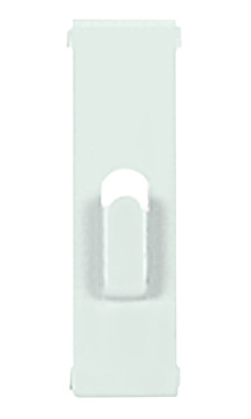 White Notch Hook for Wire Grid