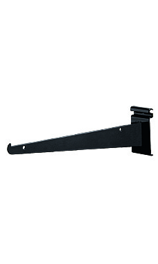 12 inch Black Metal Shelf Brackets for Wire Grid