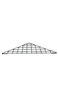 Triangle Black Wire Grid Shelf