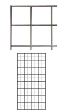 Boutique Raw Steel 2 x 4 foot Wire Grid Panel