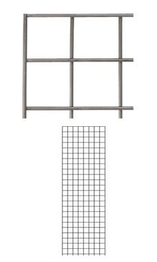 Boutique Raw Steel 2 x 6 foot Wire Grid Panel