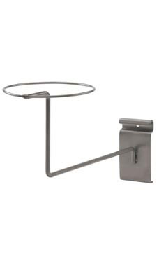 Boutique Raw Steel Single Hat Display for Wire Grid