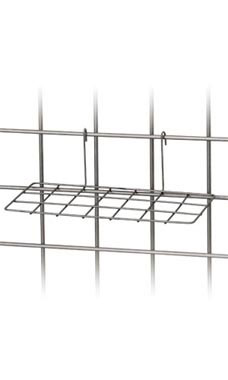 Boutique Raw Steel Wire Shoe Shelf for Wire Grid