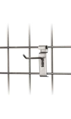 Boutique Raw Steel 4 inch Peg Hook for Wire Grid