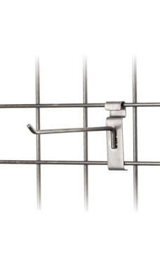 Boutique Raw Steel 8 inch Peg Hook for Wire Grid