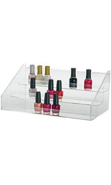 3-Tier Clear Acrylic Shelf for Slatwall or Wire Grid