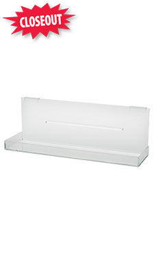Medium Clear Acrylic Tray for Slatwall or Wire Grid
