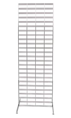2 x 6 foot Chrome Slat Grid Standing Grid Screen