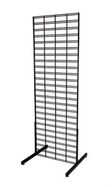 2 x 6 foot Black Slat Grid Standing Grid Screen