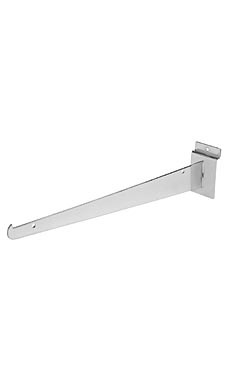 14 inch Chrome Shelf Bracket for Slatwall