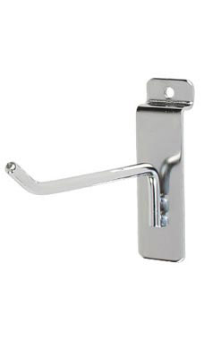 4 inch Chrome Peg Hook for Slatwall