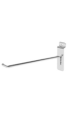 8 inch Chrome Peg Hook for Slatwall