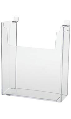 8 ½ x 11 inch Clear Acrylic Literature Holder for Slatwall