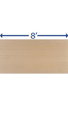4 x 8 foot Horizontal Paint Ready Slatwall Panel