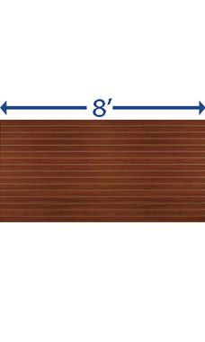 4 x 8 foot Horizontal Cherry Slatwall Panel