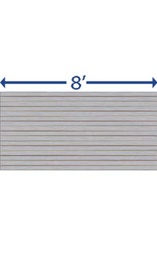 4 x 8 foot Horizontal Brushed Aluminum Slatwall Panel