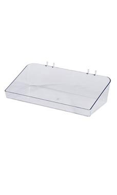 12 x 3 x 6 ½ inch Clear Plastic Tray for Slatwall