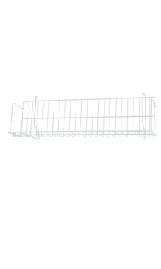 24 x 6 x 6 ½ inch White CD/DVD/Cassette Shelf for Slatwall or Pegboard