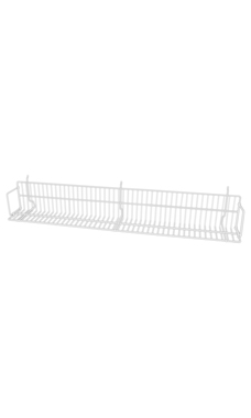 48 x 6 x 6 ½ inch White CD/DVD/Cassette Shelf for Slatwall or Pegboard