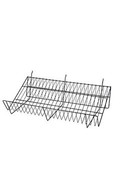 "Black Downslope Shelves - 24"" x 12"""