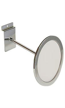 Circular Chrome Faceout Sign Holder for Slatwall