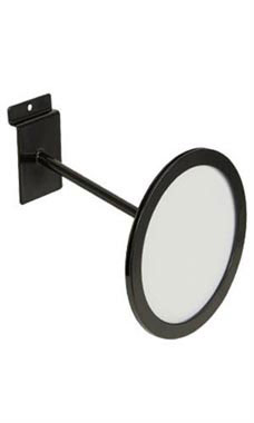 Circular Black Faceout Sign Holder for Slatwall