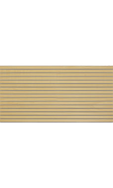 4 x 8 foot Horizontal Maple Slatwall Panel With Metal Inserts