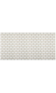 4 x 8 foot Horizontal White Subway Tile Slatwall Panel