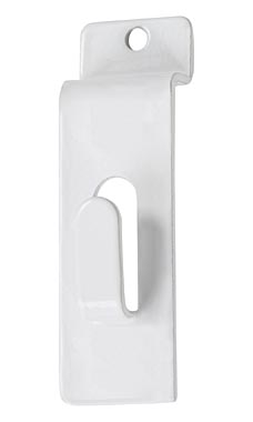 White Notch Hook for Slatwall