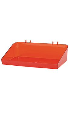 12 x 3 x 6 ½ inch Clear Red Plastic Tray
