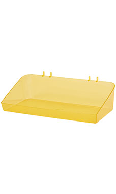 12 x 3 x 6 ½ inch Clear Yellow Plastic Tray