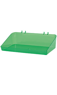 12 x 3 x 6 ½ inch Clear Green Plastic Tray