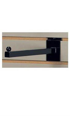 12 inch Straight Square Black Faceout for Slatwall