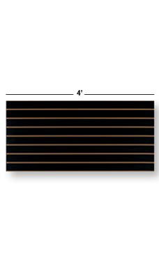 4 x 2 foot Horizontal Black Slatwall Easy Panels - Pack of 2