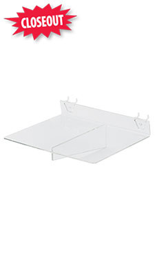 10 x 8 inch Clear Acrylic Shelf for Pegboard