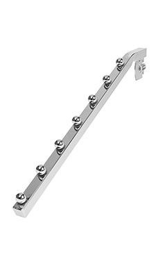 Chrome 7-Ball Waterfall for Slotted Standard - ½ inch slots 1 inch on center