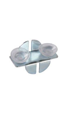 Front Glass Shelf Clips With Rubber Bumpers